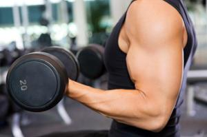 weight lifting muscle dumbbell