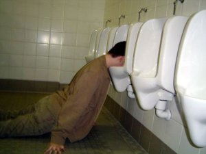 drunk man idiot
