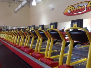empty gym treadmills