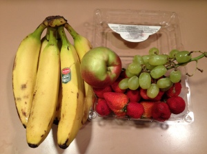 Fruit for smoothie banana grape apple strawberry