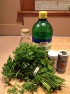salad ingredients salt pepper lemon juice olive oil