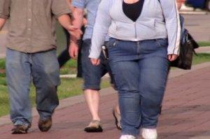 obese people walking