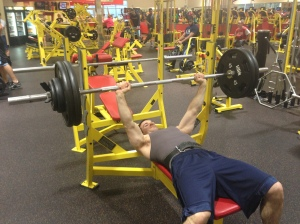 wayne lifting bench press
