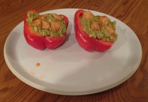 Bell Pepper chicken Fajita guacamole
