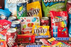junk food soda candy chips