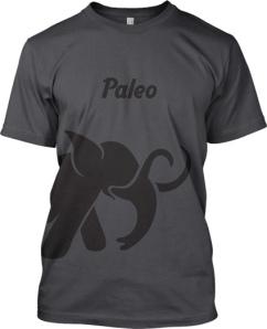 paleo T shirt elephant