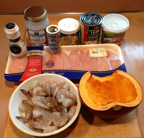 thai pumpkin soup ingredietns