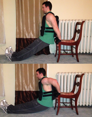 Chair Dips Weight Vest Exercise Triceps
