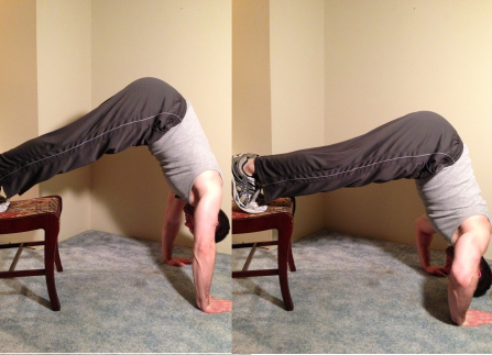Beginner Handstand Push Up Body Weight Exercise