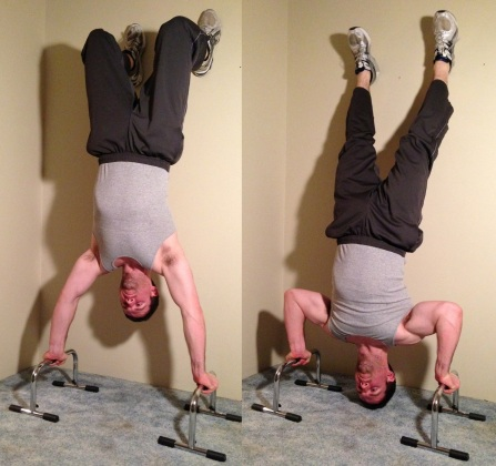 Full Range of Motion Handstand Push Up Exercise