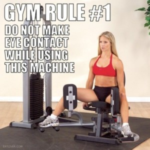 funny gym rules etiquette hot woman