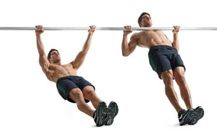 man inverted row body weight exercise
