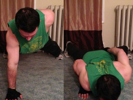 One Handed Push Up Body weight exercise